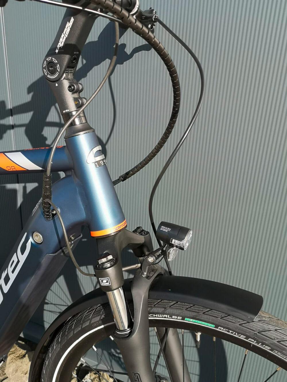 Corratec E-Power Urban 28 CX6 10S Wave shadow blau/orange